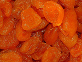 Apricot halves with sugar added