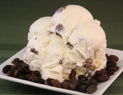 Organic Raisins Ice Cream